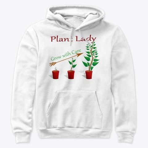 plant lady tshirt grow with care white color leaves