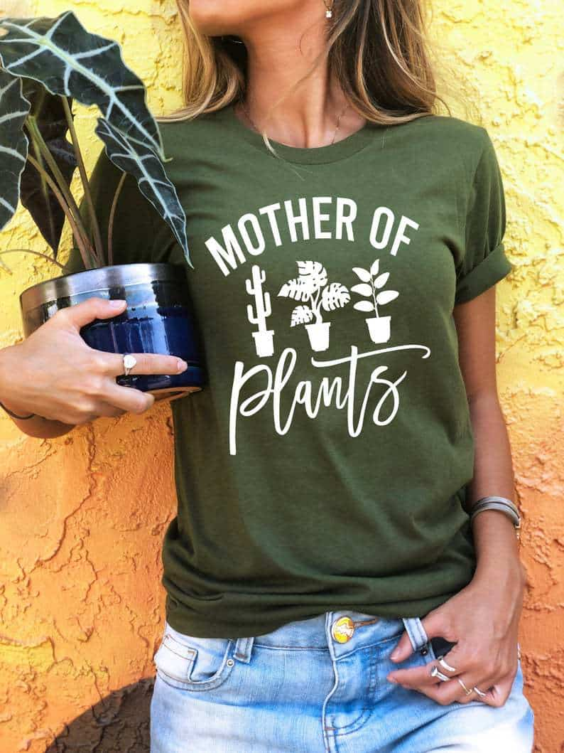 plant tshirt for women mother wife